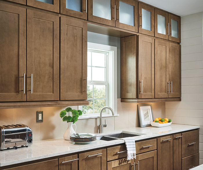 Attractive Color Light Maple Cabinets Interior Designs: Pantry Pullout Cabinet With Knife Block