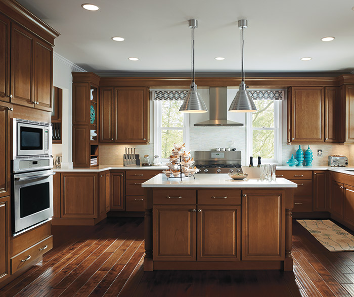 Kitchen with Maple Cabinets