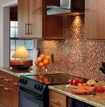 Kitchen with modern remodel using Schrock cabinetry
