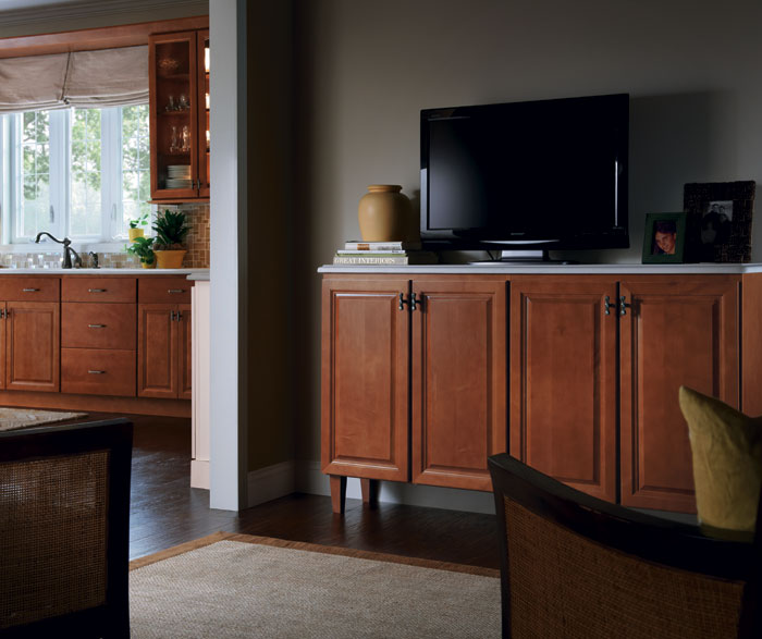 Living room cabinet by Homecrest Cabinetry